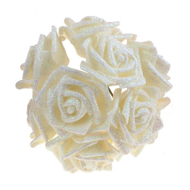 2 rooside stiili 18 värvi 8CM 6.5CM 10Pcs Kunstlikku roosi lilled - Pühad ja peod - Foto 5