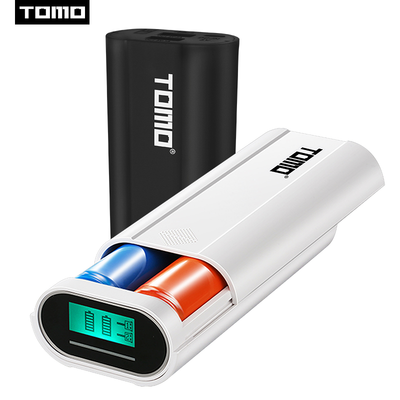 TOMO M2 2 x 18650 Li-ion Universal Battery DIY Smart Portable Battery USB Charger with LCD Display Screen Power Bank Dual Output