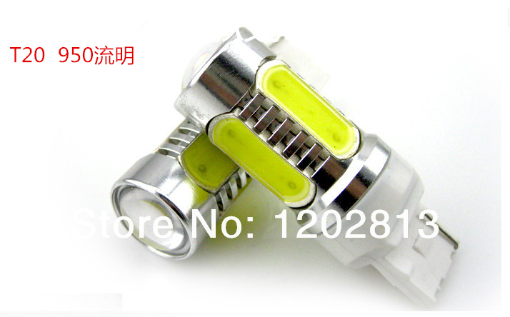 Free shipping 2pcs 7.5W Plasma LED T20 7440 Amber Orange Yellow Car Signal Tail Turn DRL Light Bulb LED White