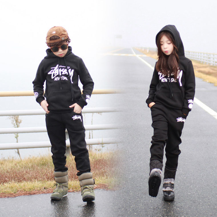 Spring Autumn Big Children Clothing Set For Boys Girls Black Cotton Brand Hoodies Pants Kids Sports Suit 4 6 8 10 12 14 Years children clothing sets for teenage boys and girls camouflage sports clothing spring autumn kids clothes suit 4 6 8 10 12 14 year