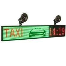 Placa de luz de led para carro, p5 smd 12v rgb cor completa ios wifi controle remoto programável propaganda de mensagem de texto de rolagem tela de tela