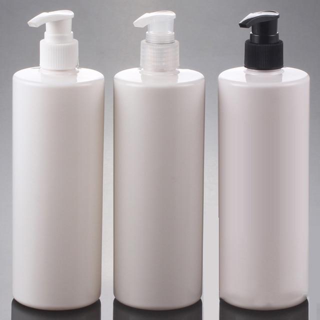 Bardzo dobry 10 sztuk 500 ml puste plastikowa butelka na szampon biały balsam TE86