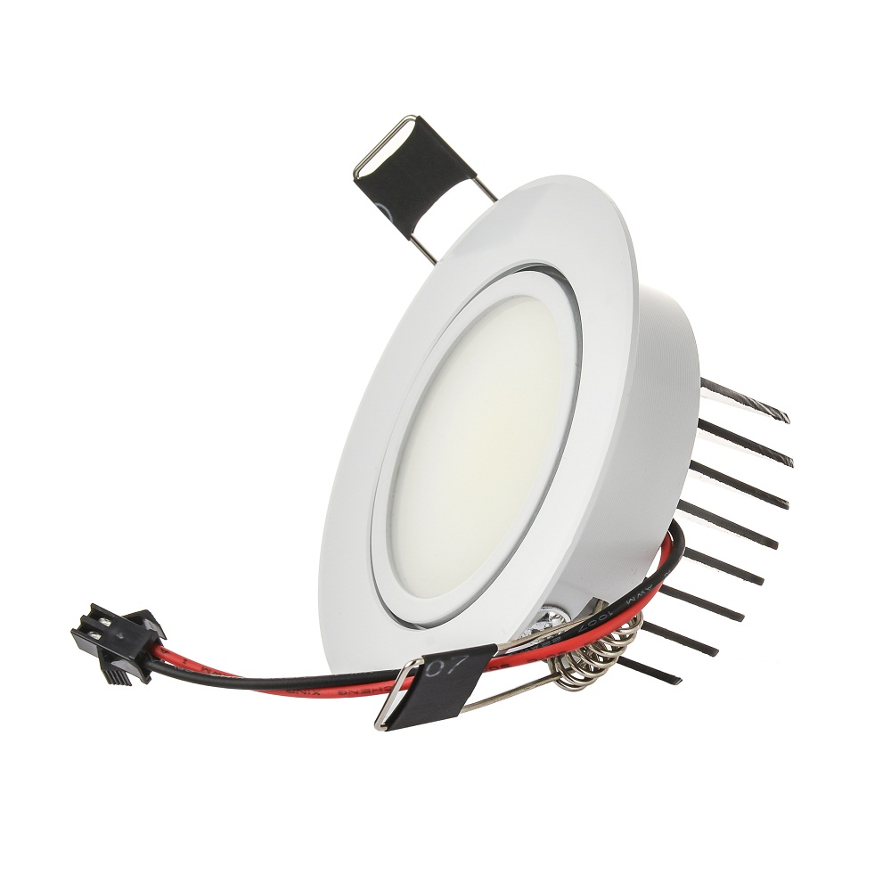 Lámpara de punto LED de mazorca redonda de gran calidad 6 W ángulo ajustable empotrado de techo 110 V 230 V para iluminación de hogar/Oficina - 4
