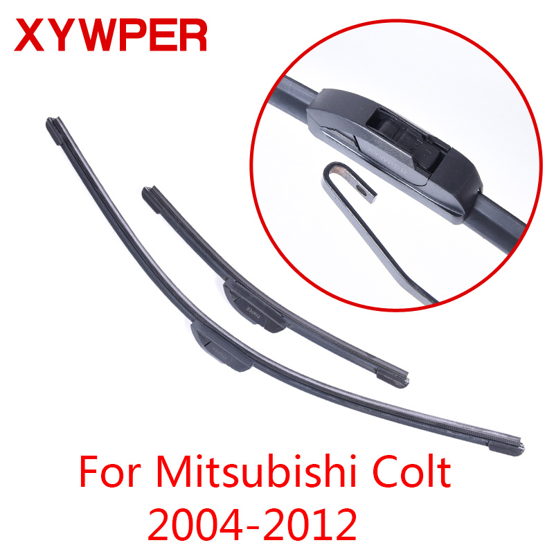 все цены на XYWPER Wiper Blades for Mitsubishi Colt 2004 2005 2006 2007 2008 2009 2010-2012 Car Accessories Soft Rubber Windshield Wipers онлайн