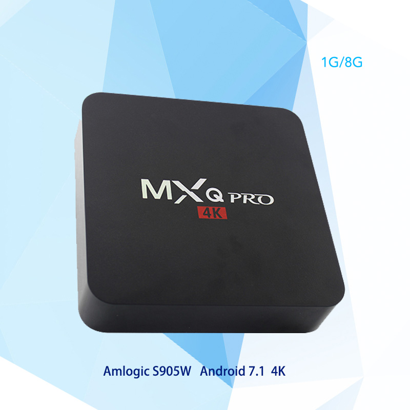 MXQ PRO 4K Android 7.1 TV Box Amlogic S905W Quad Core Ram 1GB ROM 8GB 2.4G WiFi Smart Tv Box Media Player PK X96 X92