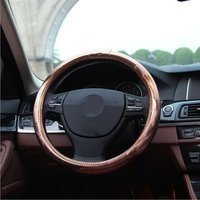 Car Steering Wheel Cover Fit For 37.5cm Steering Cover Female Pink Purple Fashion Car Steering Wheel Cover Accessories