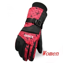 Hot sale Women Winter Gloves Taslan Winter Keep Warm Cold-proof Windproof Ski Gloves Female  Mittens