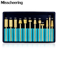 12pcs Set Professional Tungsten Carbide Nail Drill Bits Electric Grinding Head Set Nail File Drill Bit