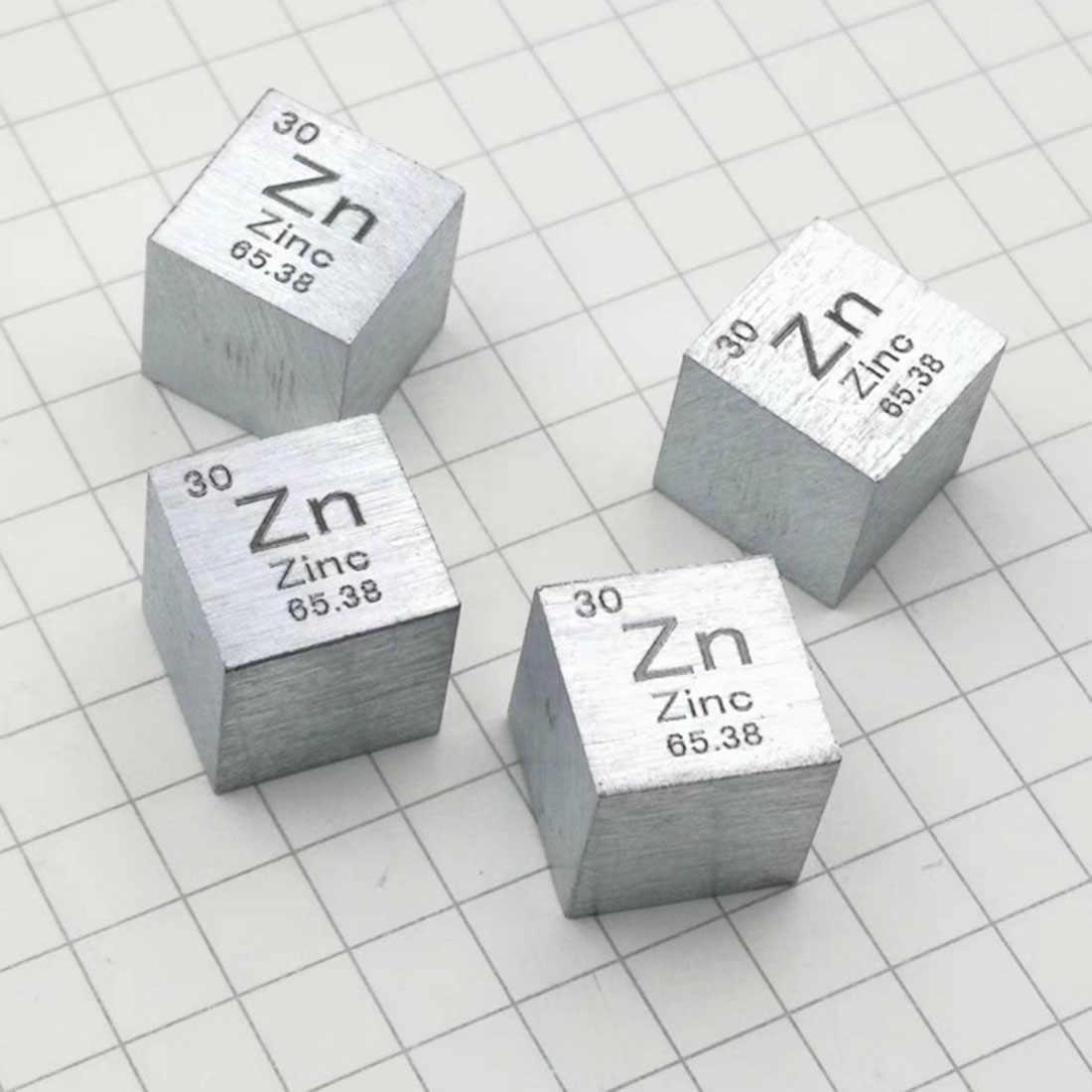 10X10X10mm con alambre trefilado Cubo de Zinc de alta pureza tabla periódica de elementos cubo (Zn≥ 99.9%) para investigación Estudio educación escolar