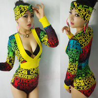 Dj 2018 Bodysuit Costumes Sexy Multicolour Ds Costume Ancient Chinese Costume Bodysuit Costume Singer Dress Rave Outfit Beyonce