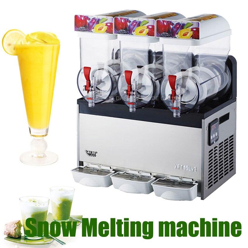 Slush Making Machine 3 Tank Snow Frozen Drink Smoothie Maker Commercial Usa
