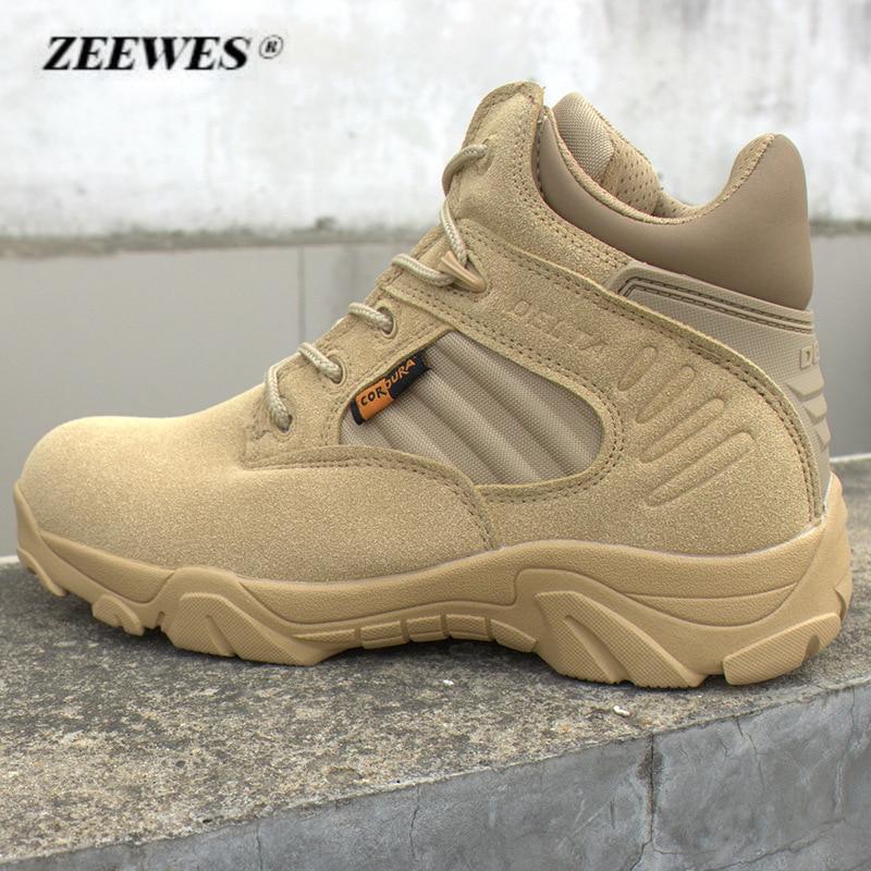 Men Delta Low Desert Boots High Quality Black Combat Boots Outdoor - Men's Shoes