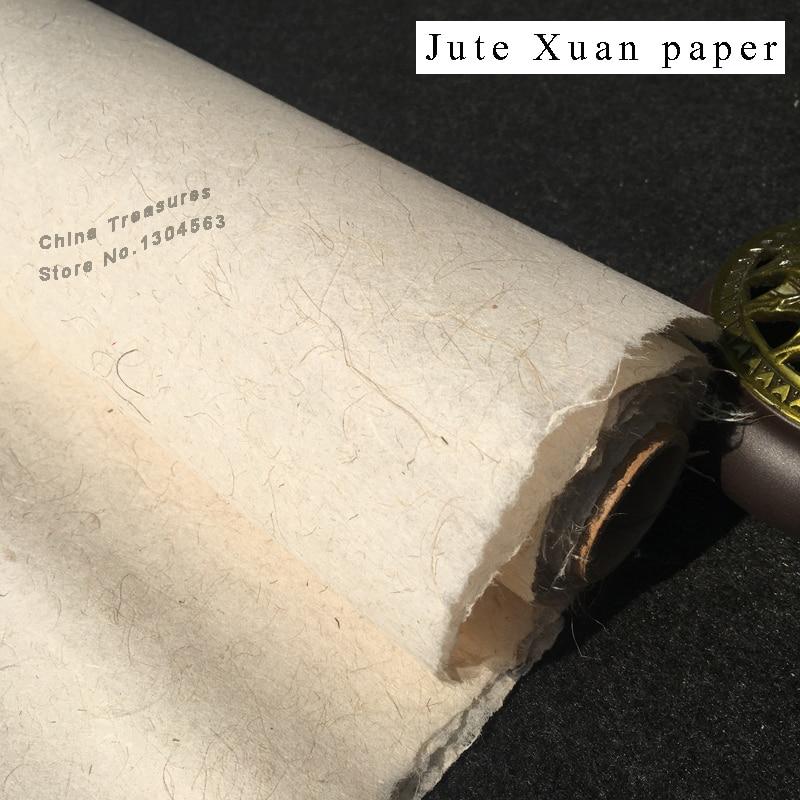 10sheets Chinese Rice Paper Calligraphy Writing Paper Chinese Painting Xuan Zhi Handmade Mulberry Bark Mix Jute Paper Ban Shu