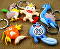 double-face pokemon keychain cute key ring Pocket Monster key chain key holder anime PVC portachiavi chaveros llaveros souvenir
