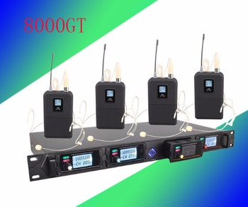 Wireless microphone system 8000GT professional UHF channels dynamic microphone professional 4 karaoke microphone
