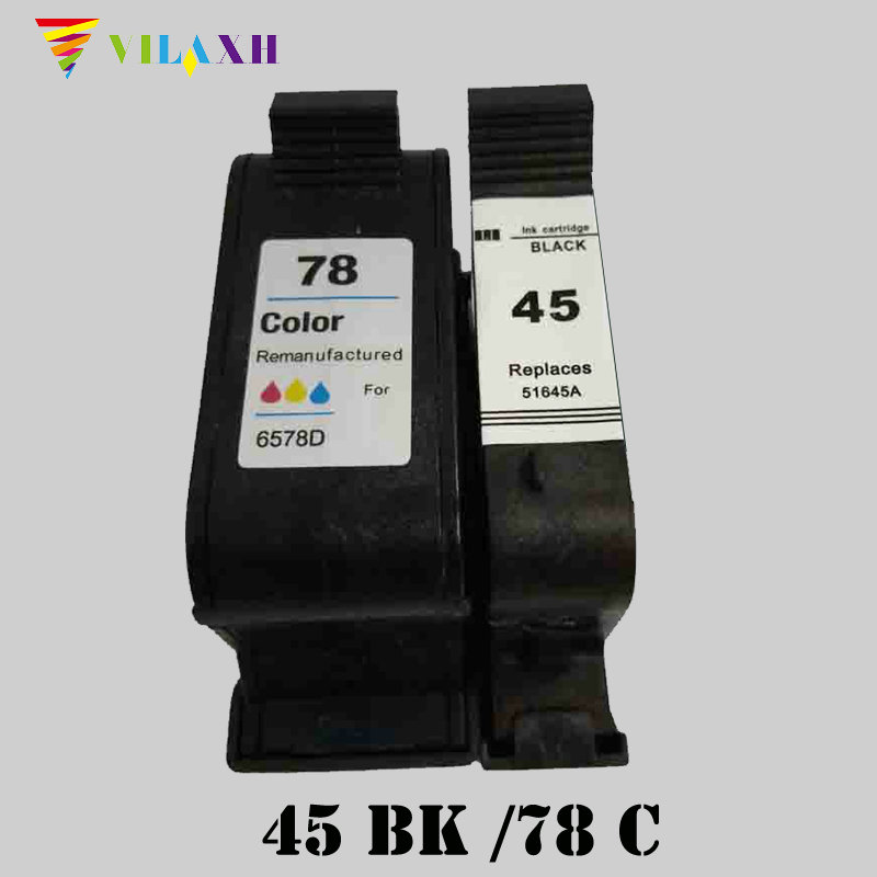 Vilaxh 45A 78A Compatible Ink Cartridge Replacement for HP 51645A C6578A 45 78 For Deskjet 180 280 1220c 3810 3820 930c Printer color xiongcai compatible ink cartridges for hp 78 deskjet 1220c 3820 3822 6122 6127 920c 930c 932c 940c 950c printers for hp78