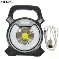 30W COB Led Portable Spotlights 2400LM Led Flood Lights 18650 Battery Led Warning Lamps USB Charging