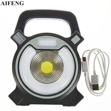AIFENG 30W COB Portable Spotlight 2400LM Led Searchlight 18650 Battery Rechargeable Portable Spotlight 4Mode For Camping Hunting