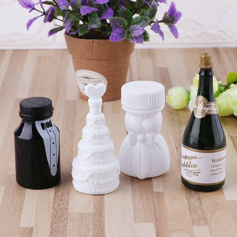 10 unids/lote frascos vacíos para burbujas de jabón decoración de Boda Mariage Boda juguete para niños burbujas fabricante de juguetes para niños al aire libre