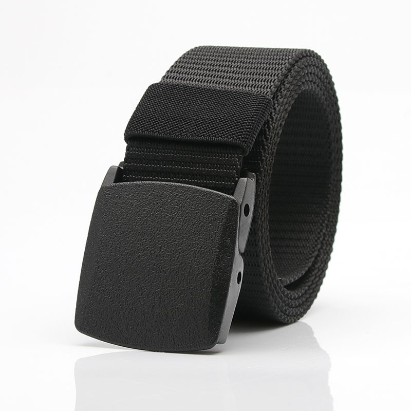 Nclon Elastic Fabric Mens Belt,Plain Webbing Canvas Belt Pin Buckle Casual Style Waist Belt
