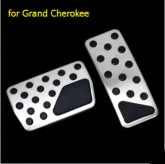 Car styling 2pcs/set stainless steel Accelerator Gas Brake pedal NON-slip cover auto accessories case for Jeep Grand Cherokee