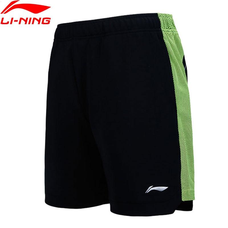 Li-Ning Men Badminton Series Shorts Polyester Breathable LiNing Comfort Sports Competition Shorts AAPN153 MKD1525