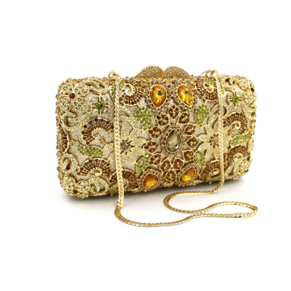 Women Metal Rhinestone Evening Bag gold Flower Crystal Hollow Out Bridal Clutch Party Handbag Wedding clutch wallet Purse Sac корпус фильтра гейзер вв 10 x 1 для холодной воды цвет синий