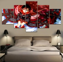 Modern Decorative Painting Canvas Wall Art 5 Piece RWBY Anime HD Print For Living Room Artwork