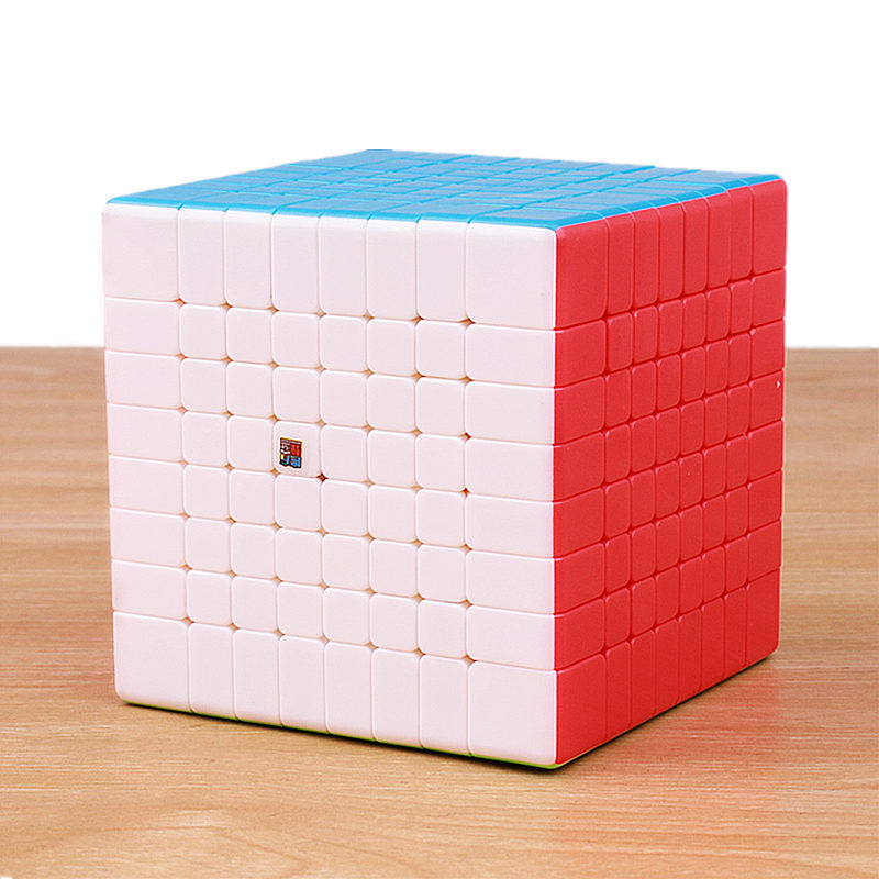 Moyu mofangjiaoshi MF8 8x8x8 magic speed cube autocollant moins professionnel 8 couches lisse puzzle cube jouets éducatifs pour les enfants