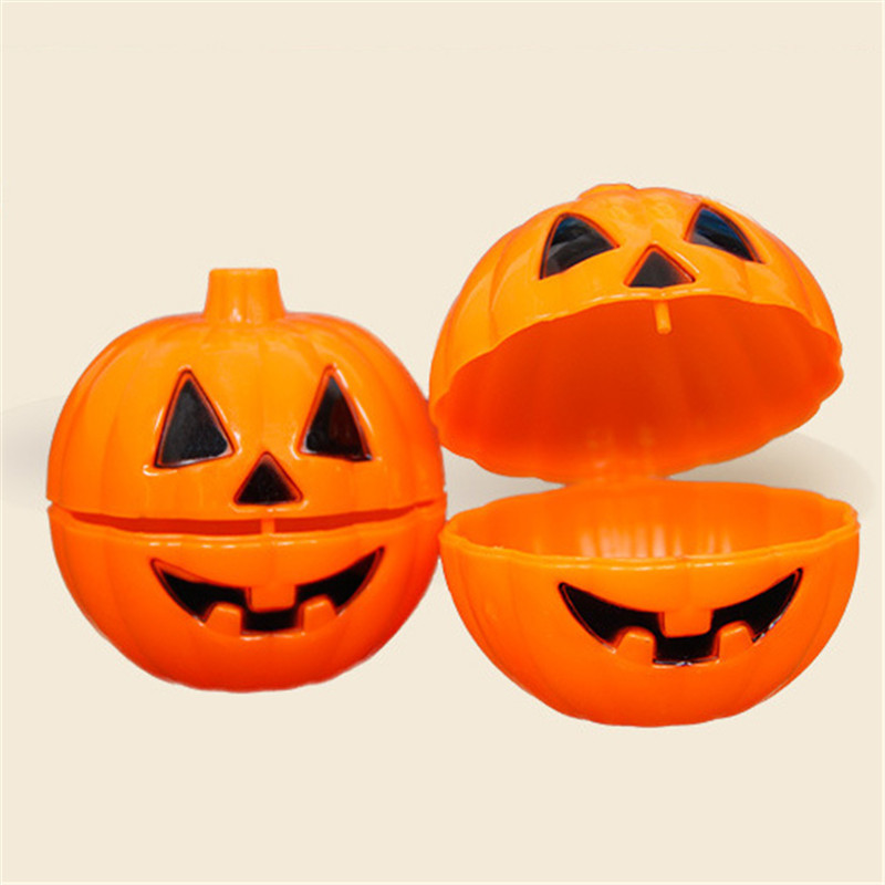1pcs Cute Halloween Pumpkin Table Ornaments Cute Opening Pumpkin Ornaments MIni Furnishing Articles Small Halloween Candy Box