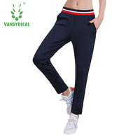 Sport Elastic Waist Solid Black Cotton Running Pants Women 2019 Autumn Winter Training Gym Sweatpants Sport Trousers