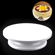 Plastic Cake Stand cake turntable can manually rotate round plastic DIY flower baking tools