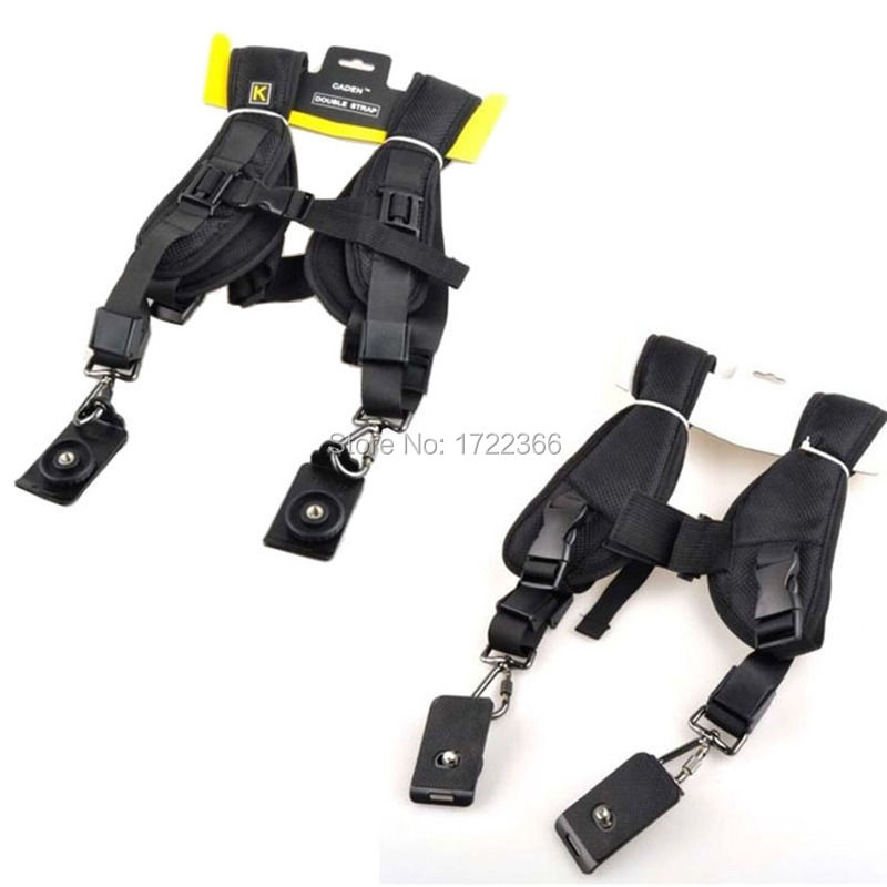Quick Rapid Camera Double Dual Shoulder Sling Belt Black Strap for DSLR Camera For Canon EOS Nikon Free Shipping