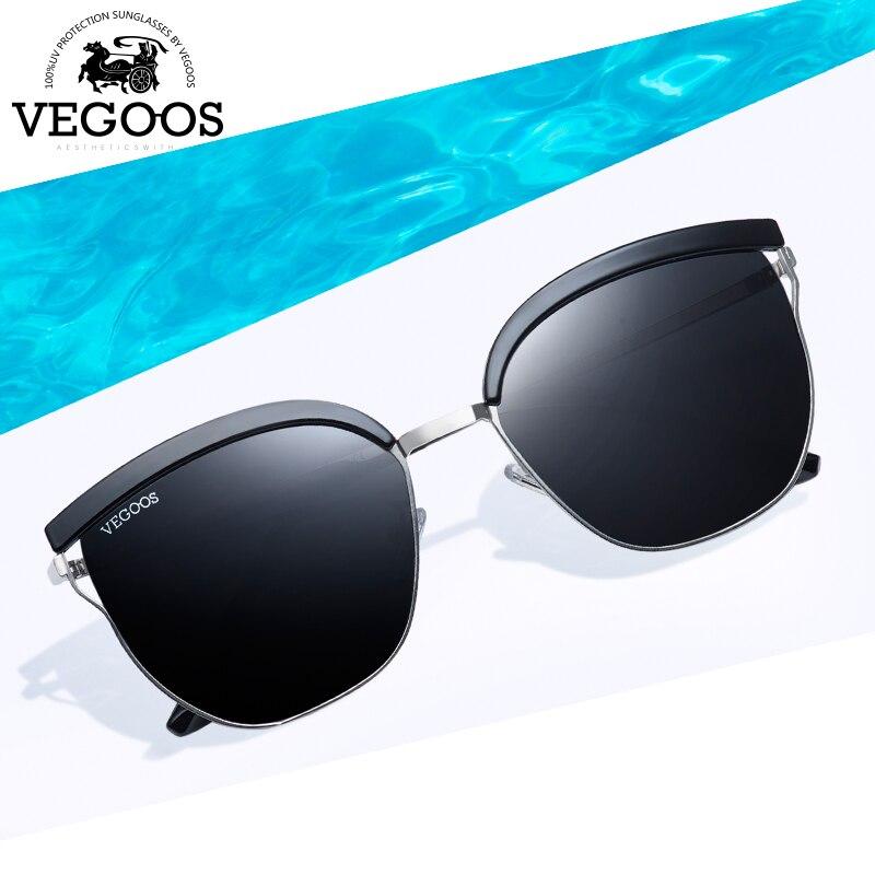 VEGOOS Polarized Unique Square Sunglasses Women Unisex TAC Lens Unique Design Thin Frame Outdoor Driving Retro