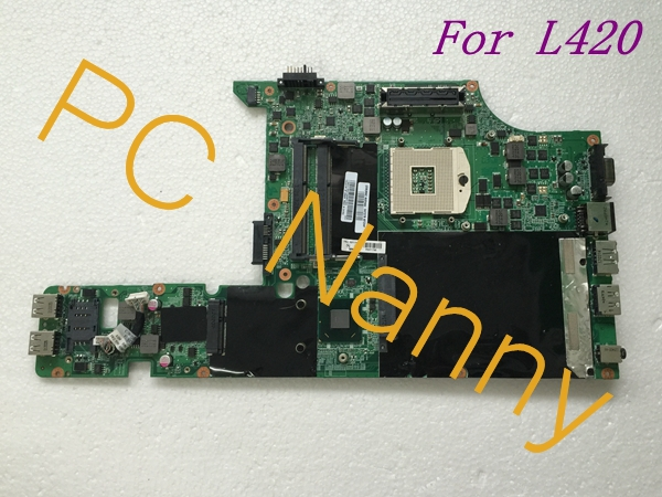 For LENOVO ThinkPad L420 Laptop Intel Motherboard FRU 63Y1799 63Y1786 DAGC9EMB8E0 Hm65 s989r for lenovo thinkpad x200 intel gm45 motherboard 43y9980 48 47q06 031 intel gma x4500