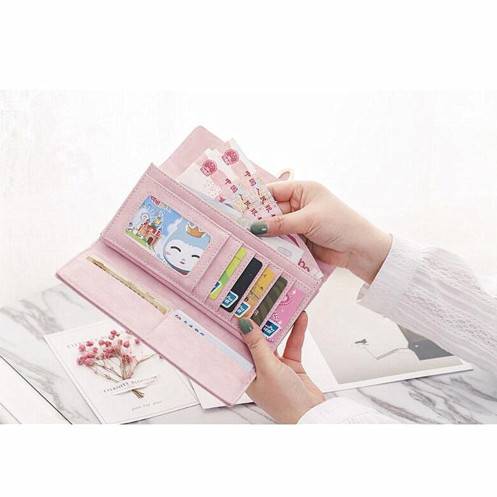 Kvinnor plånbok med kreditkortsinnehavare Telefonhållare Mode - Plånböcker - Foto 3
