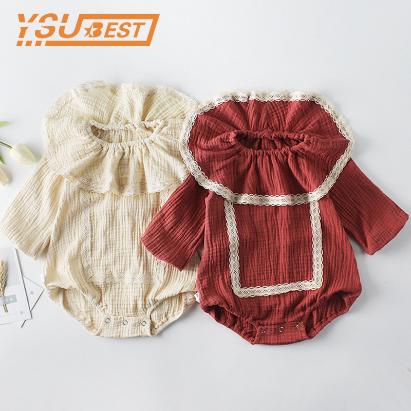 0-2Y Girls Boys Long Sleeve Jumpsuit 2019 Baby Girls Boys   Rompers   Autumn Princess Newborn Baby Clothes Kids Baby Outfits Clothes