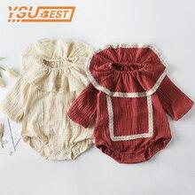 0-2Y Girls Boys Long Sleeve Jumpsuit 2019 Baby Girls Boys Ro