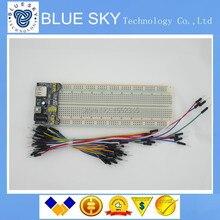 3.3 В/5 В MB102 Макет модуль питания + MB-102 830 точек Solderless Прототип Хлеб доска комплект 65 гибкие соединительные провода