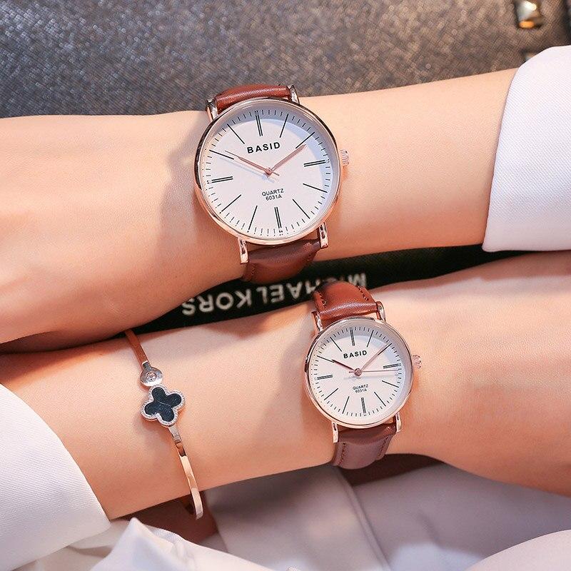 Couple Watches for Lovers Pair Ultrathin luxury BASID brand Quartz Wrist Watch Fashion Waterproof Men Women Wristwatches relogio