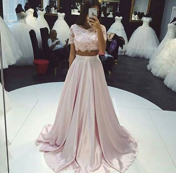 Crop Top Bridesmaid Dress