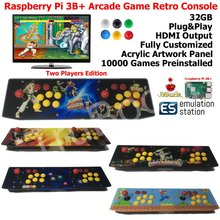 Two Players Raspberry Pi B Arcade Game Retro Console Acrylic Artwork Panel All In One