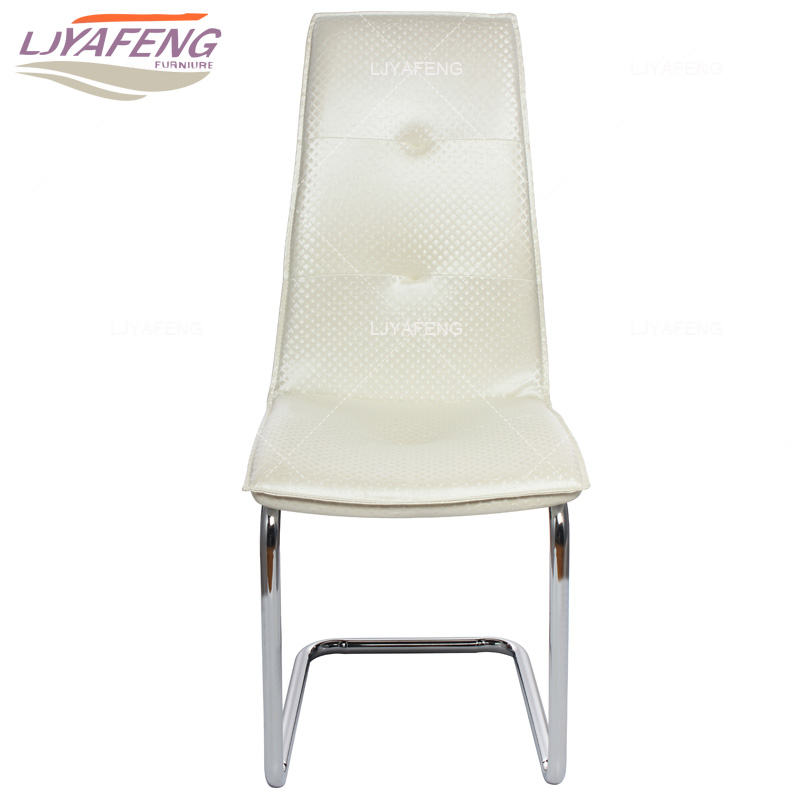 Modern minimalist dining chair backrest adult household hotel reception iron chair Leather chair the silver chair