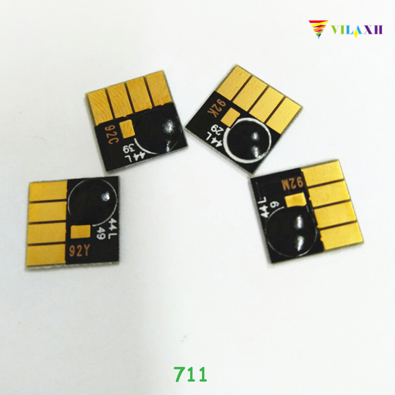 Vilaxh 711 Auto Reset Chip Replacement For HP 711 XL 711XL For Designjet T120 T520 Printer Cartridge Chip
