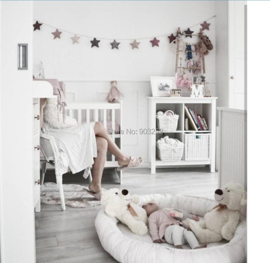 Разборный супер мягкий детский шезлонг, утолщенный детский коврик для ползания игровой коврик, переносные кроватки и колыбели, подушка круглое гнездо