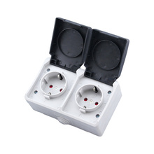 New Waterproof Socket IP44 Outdoor Kitchen Bathroom Surface Type Connector EU Germany Standard original new 100% 5015 ms3108a20 18s ms3102a20 18p 9 american standard aviationplug bent core waterproof connector