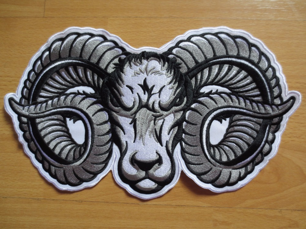 Huge SHEEP 11'' inches large Embroidery Patches for Jacket Back Vest Motorcycle Biker 28.5CM *18CM