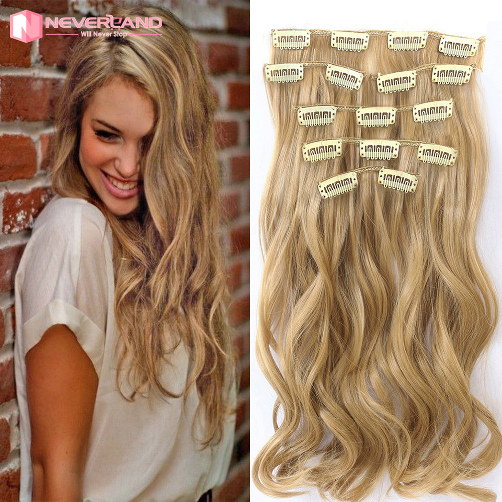7pcsset 22 inch 55cm clip in hair extensions 16clips long 7pcsset 22 inch 55cm clip in hair extensions 16clips long hairpiece curly wavy heat resistant synthetic hair honey blonde 2016 on aliexpress alibaba pmusecretfo Image collections
