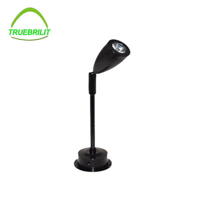 1W LED Picture Light Desk Lighting Stand Pole Post Lamp Spotlight Jewelry/Phone Store Showcase Display Case Black Shell