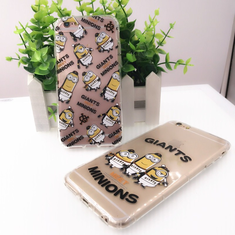 Mouplayca Case Cute Funny Despicable Me3 Yellow Minion Case Cover for iphone7 iphone7plus air-pressure edge capa cover bag